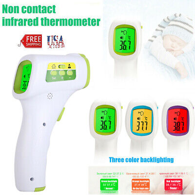 No Touch Infrared Digital Body Forehead Thermometer Gun Fc For Adults Baby Us