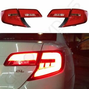 For Toyota Camry Tail Lights 2012-2014 Red LED Brake Rear Clear Lamp
