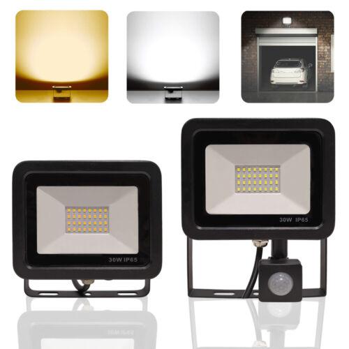 LED Fluter mit Bewegungsmelder 30W Flutlicht Außenleuchte Gartenlampe IP65 230V