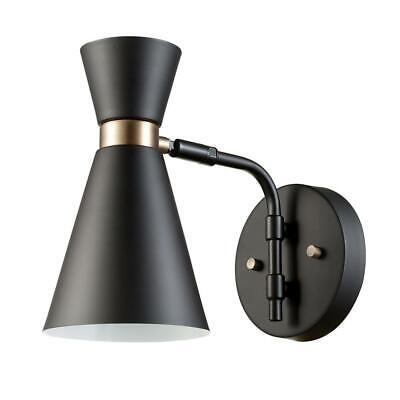 Globe Electric Belmont 1-Light Black Sconce 65855