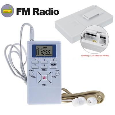 (Mini Pocket Digital LCD DSP Stereo FM Radio Receiver 60-108MHz w/Earphones K0X7)