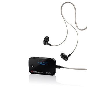 Albrecht DR72 Taschenradio Bluetooth, DAB+, UKW Freisprechfunktion Schwarz