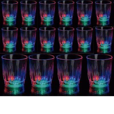 48 pcs Light-Up Shot Glasses LED Flashing Drinking Blinking Barware Party Glass - Flashing Shot Glasses