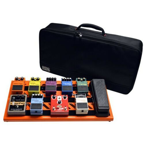 Gator Cases Large Guitar Effects Stompbox Pedal Board British Orange + Carry Bag
