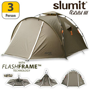 NEW-2013-SLUMIT-GOBI-III-FLASHFRAME-TENT-3-MAN-PERSON-BERTH-POPUP-CAMPING