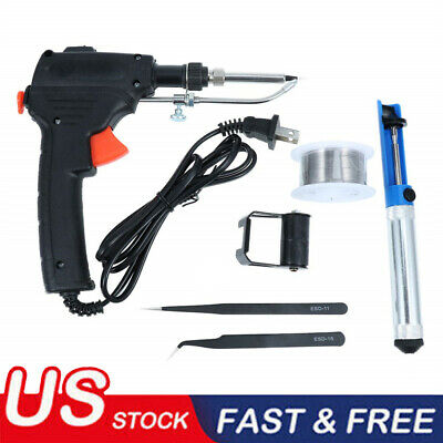 60w Auto Electric Soldering Iron Gun With Flux 2 Solder Wire Tin Wire 50g Bo