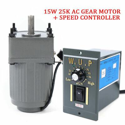 Ac 110v 54 Rpm Gear Box Motor High Torque Reversible Variable Speed Controller