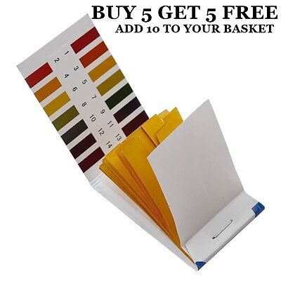 Universal Full Range Litmus Test Paper Strips Tester Indicator Urine 80 pH 1-14