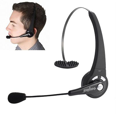 Bluetooth Headset Wireless Noise Cancelling Headphone Mic for PS3 Cell Phone US