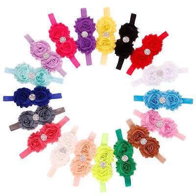 New Girls Headbands  Flower Hair Accessories For Girls Infant Hair Band Gift LOT (Headbands For Girls)