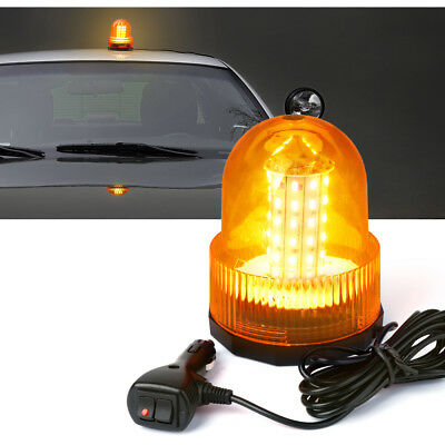 Dome 30w 60 Led Emergency Truck Flash Strobe Rooftop Rotating Beacon Light Amber