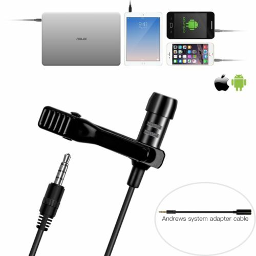 Wired Lavalier/Lapel Microphone Mic w/ Easy Clip On System P
