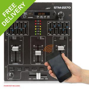 STM2270 Sound Effects Bluetooth Wireless Audio DJ PA Mixer 4-Channel SD USB MP3