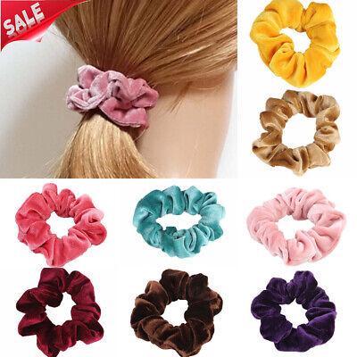 Samt-scrunchie (Frauen Samt Scrunchie elastische Super weich Haarschmuck Mädchen Haarbänder)