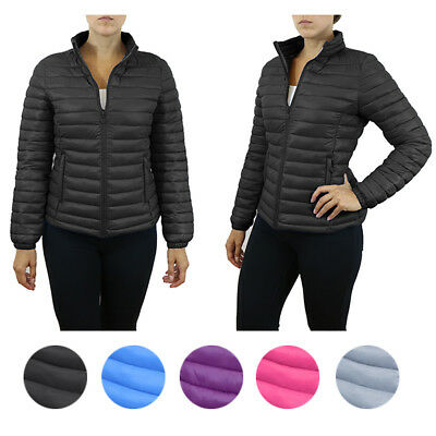 Womens Puffer Jacket - Lightweight Water Repellent Sizes S to XL NWT 5 Colors