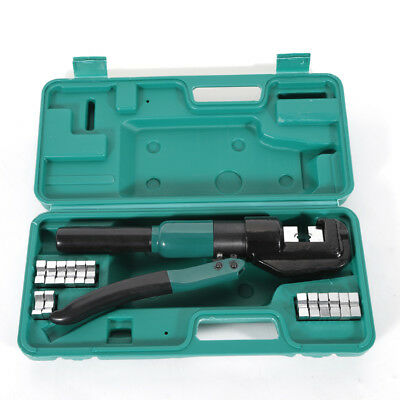 Hydraulic Wire Crimper With 10 Ton Dies Battery Cable Lug Terminal Crimping Tool