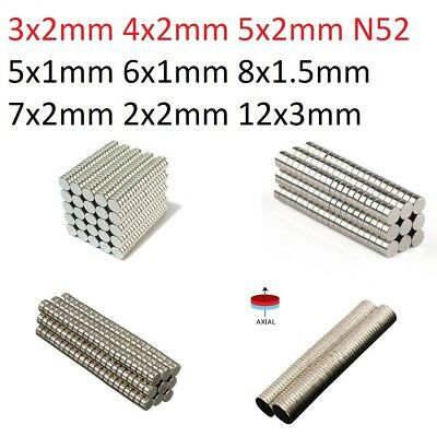 Wholesale Super Strong N52 N50 Round Disc Neodymium Magnets Rare Earth 100 500