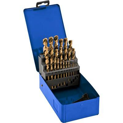 Grizzly T26516 Metric Drill Bit Set Tin Coated 25 Pc.