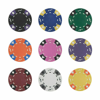 Ace King Poker Chips - Ace King Suited 14g Clay Poker Chips Sample Set New - 9 Colors