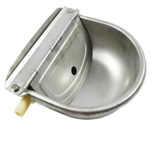 1 PCS Automatic Water Trough Stainless Bowl ---Farm Animal Dog Sheep Horse Cattle(020209)