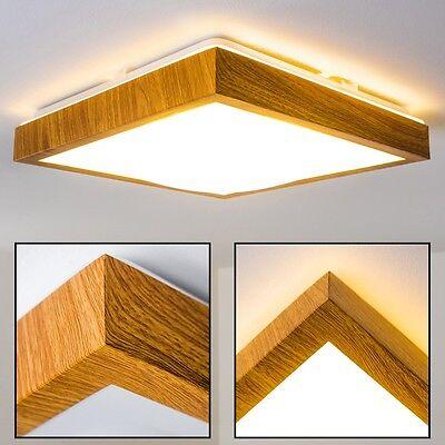 LED Decken Lampe Flur Küchen Wohn Zimmer Bad IP 44 Holzdekor Himmel Leuchte 18 W