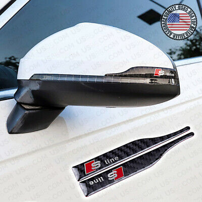 Carbon Fiber S Line Car Mirror Cover Scratch Scratchproof Badge for Audi Sport