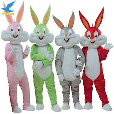Rabbit Bugs Bunny Mascot Costume Easter 10 Colors Adult Party Dress Clothing - Bugs Bunny Adult Costume