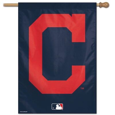 """CLEVELAND INDIANS LOGO """"C"""" 28""""X40"""" BANNER FLAG BRAND NEW WIN"""