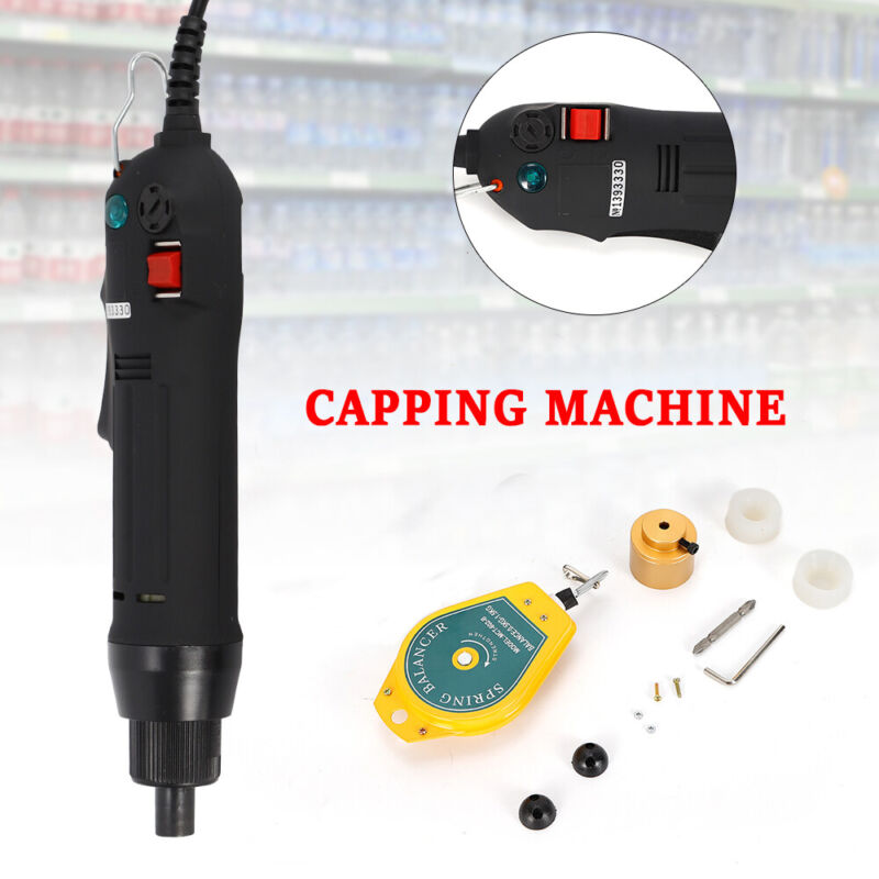 Electric Bottle Capping Machine Cap Sealer Sealing Machine Screw Capper 110V USA