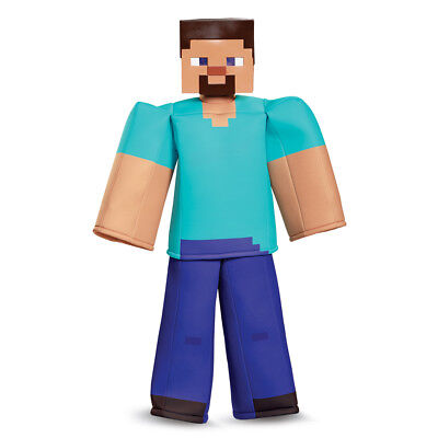 Boys Minecraft Steve Prestige Halloween Costume - Steve Halloween Costume