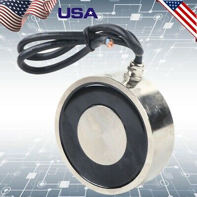 200kg Electric Lifting Magnet Electromagnet Solenoid Lift Holding 120 X 40 Mm