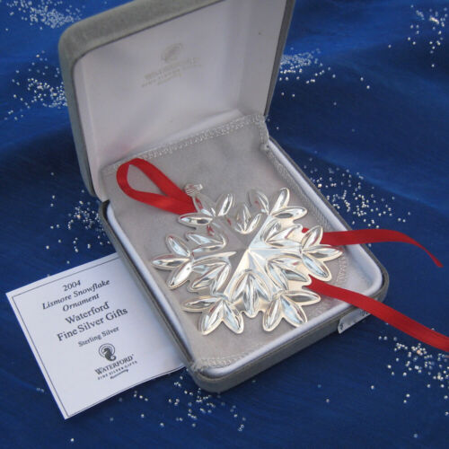 RARE • NEW • Waterford 2004 Lismore SNOWFLAKE Sterling Silver Christmas Ornament