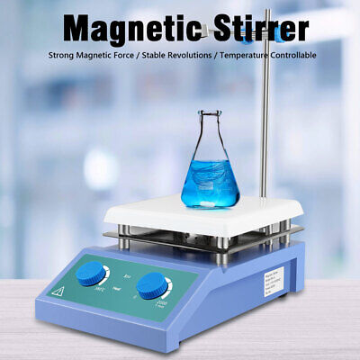 Magnetic Stirrer With Heating Plate Hotplate Digital Mixer Stir Bar Lab Sh4