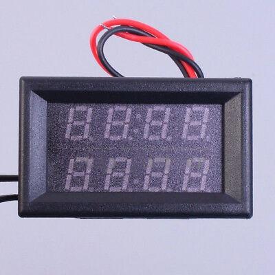 0.56 Inch Dual Red Digital Display Led Waterproof Thermometer Sensor Dc 4-28v Us