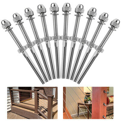 T316 Stainless Steel Swage Threaded Tensioner For 18 Cable Railing Systems