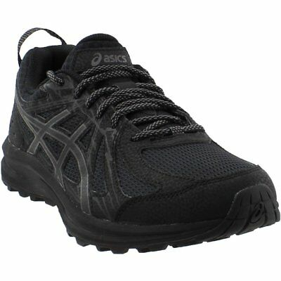 (ASICS Frequent Trail Running Shoes- Black- Mens)