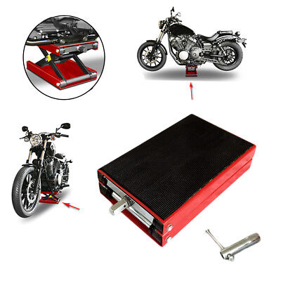 1100Lbs Mini Scissor Lift Jack Motorcycle/ATVs Bikes Scooter Crank Stand Tool HD ()