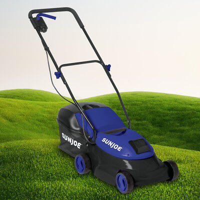 Sun Joe Cordless Lawn Mower | 14 inch | 28V | 5 Ah | Brushless Motor (Blue)