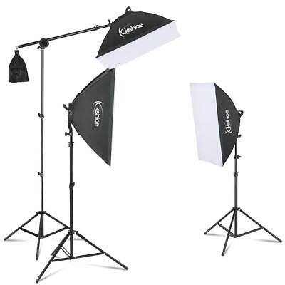 "86"" Professional Continuous Studio Lighting Equipment with Boom Arm Hairlight"