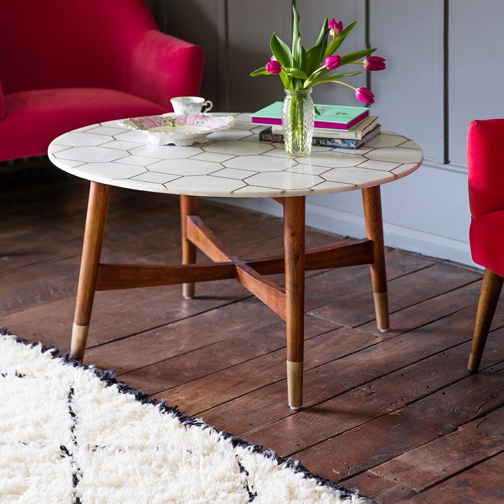 Marble Coffee Table Gumtree Melbourne: NEW BOXED ATKIN & THYME MARBLE & BRASS COFFEE TABLE