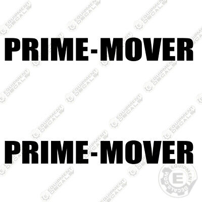 Prime Mover Decal Kit Logo Decals Set Of 2 Lift Truck Equipmentdecals