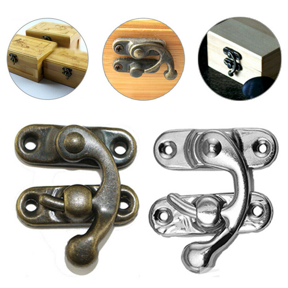 1PC Retro Antique Hooks Wall Hanger Buckle Horn Lock Wall Clasp Hook Hasp T3C4
