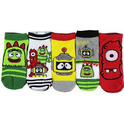 5 PAIR Yo Gabba Gabba Get the Sillies Out Green Socks Fit 4-6 Shoe Size 7-10 NWT](Yo Gabba Gabba Shoes)