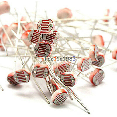 20pcs Photo Light Sensitive Resistor Photoresistor Optoresistor 5mm Gl5528