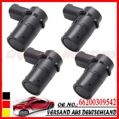 4X 66200309542 Für BMW 7er E65 E66 Parksensor Hinten PDC Schwarz DHL NEU