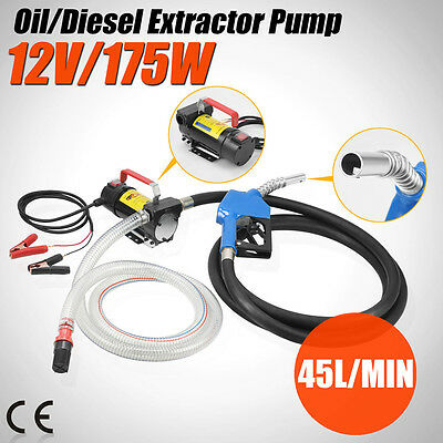 - 12V DC Electric Fuel Transfer Pump Diesel Kerosene Oil Commercial Auto Portable