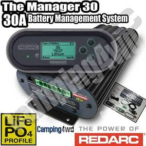 REDARC BMS1230S2 BATTERY MANAGEMENT SYSTEM CHARGER MANAGER 30 DUA Wangara Wanneroo Area Preview