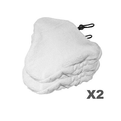 2 Clean Co. Compatible Steam Mop Pads for Steamboy & Bissell Microfiber Triangle for sale  Point Roberts