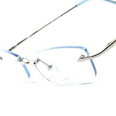 Light Blue Tint Modern Stylish Sexy Rectangle Mens Womens Frameless Sun Glasses