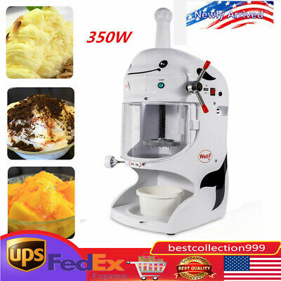 Commercial Electric Snow Ice Shaver Ice Cream Shaving Maker Machine Crusher
